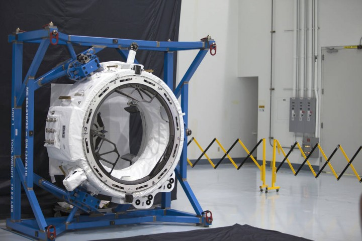 The second International Docking Adapter, IDA-2, will launch to the International Space Station on a future cargo resupply mission. The adapter was built to the specifications of the International Docking Standards, and will be a connection point for commercial crew spacecraft visiting the orbiting laboratory. Credits: NASA/Charles Babir
