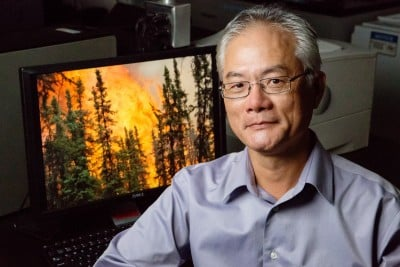 U. of I. professor Feng Sheng Hu led a study of carbon cycling and forest fires in the boreal forests of the Yukon Flats in Alaska. Photo credit: L. Brian Stauffer