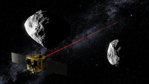 Laser communication with Earth