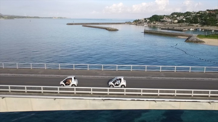 COMS vehicles are very narrow and short and do not reach speed higher than 60 km/h. However, they may help tourists see places they cannot reach using other means and will help local tourism business. Image credit: newsroom.toyota.co.jp