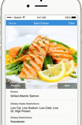 """Information about the nutritional values of menu items would be available on a new app proposed by Berkeley students in the """"Innovations in Diabetes"""" hackathon."""