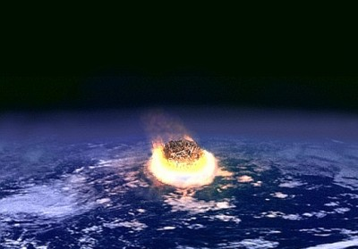 An artist's illustration of a major asteroid impact on Earth. Credit: NASA