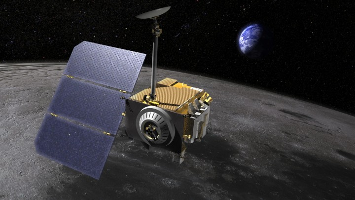 This is the LRO probe above the surface of the moon. Image credit: NASA