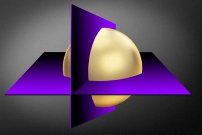 """""""Cutting plane"""" methods converge on the optimal values of a mathematical function by repeatedly cutting out regions of a much larger set of possibilities (gold sphere). Illustration credit: Jose-Luis Olivares/MIT"""