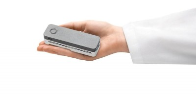 The MinION is the smallest high-throughput DNA-sequencing device currently available. Image courtesy of Oxford University
