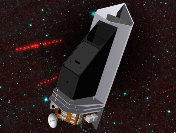 Artist's concept of the NEOCam spacecraft, a proposed mission for NASA's Discovery program that would search for potentially hazardous near-Earth asteroids. Credit: NASA/JPL-Caltech