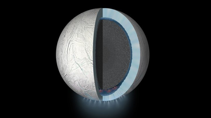This daring flyby will bring the Cassini spacecraft within 30 miles (48 kilometers) of Enceladus' south pole. Image credit: NASA/JPL-Caltech