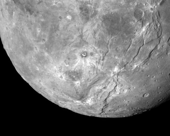 A fine view of Pluto's largest moon Charon and its vast canyon system. Credit: NASA/JHUAPL/SwRI
