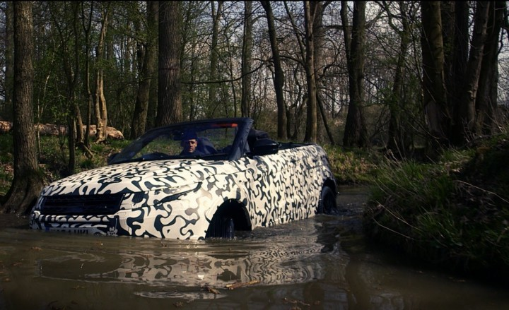 Range Rover Evoque Convertible may look like just a tarmac toy, but engineers ensure that customers receive all the off-road capability they expect from the luxury brand. They say it is world's first luxury compact SUV convertible. Image credit: newsroom.jaguarlandrover.com