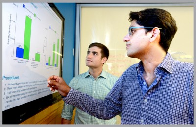 Graduate student Josh Kalla and Sekhon developed statistical approaches and new algorithms to provide simpler and much cheaper ways to assess the effectiveness of persuasion strategies. Image credit: Peg Skorpinski