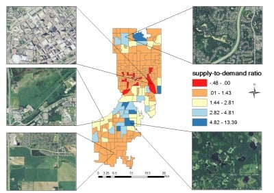 "A University of Iowa study has identified ""hotspots"" in the Twin Cities, Minnesota, where carbon emissions far outpace trees' ability to store the pollution. The analysis may help city planners determine the best locations to focus tree-planting efforts."