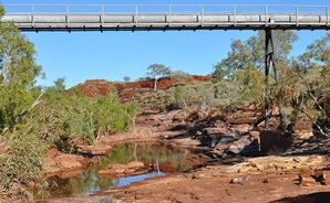 The pipeline that takes water to the West Pilbara Water Supply Scheme.