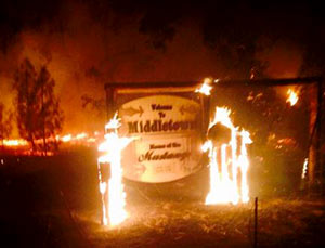 The Valley Fire, in Lake Country, started on Sept. 12, 1015 and burned more than 76,067 acres. Image credit: State of Calif.