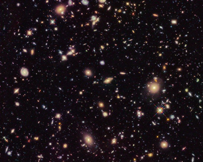 The space between the galaxies is expanding. How big is it? Credit: NASA/HST