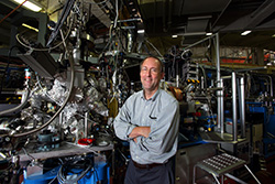 Sandia National Laboratories chemist Mark Allendorf, shown here at Berkeley Lab's Advanced Light Source facility, is leading the Hydrogen Materials – Advanced Research Consortium (HyMARC) to advance solid-state materials for onboard hydrogen storage.