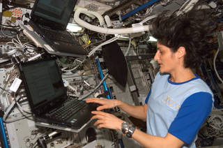 Astronaut Sunita Williams participated in the journals investigation. Crew members agreed to journal at least three times per week either by typing on a laptop or recording audio files. Credits: NASA