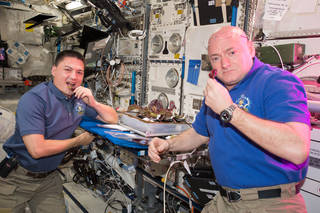 The space station is the only microgravity platform for the long-term testing of new life support and crew health systems, advanced habitat modules, and other technologies needed to decrease reliance on Earth. NASA astronauts Kjell Lindgren, left, and Scott Kelly are pictured here, just before the halfway point of Kelly's one-year mission on station. Credits: NASA