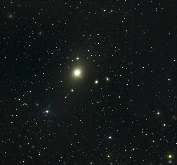 This visible light view shows the central part of the Virgo Cluster. The brightest object is the giant elliptical galaxy M87 (left of center). The image spans approximately 1.2 degrees, or about 2.4 times the apparent diameter of a full moon. Credits: NOAO/AURA/NSF Download the image in HD at NASA's Scientific Visualization Studio