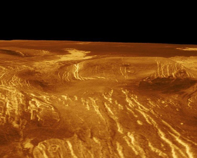 Inhospitable surface of Venus. Credit: Magellan