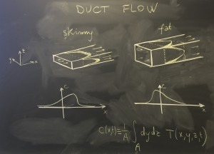 UNC researchers find that the shape of a pipe dramatically affects how a pollutant will spread in the moments after it is introduced into a fluid flow.
