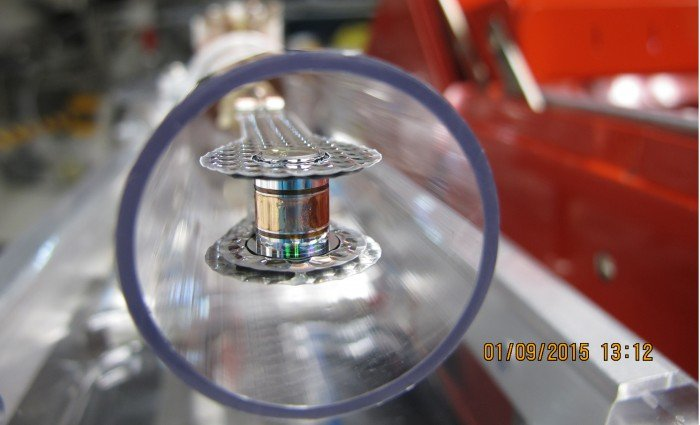 This target was used in a three-shock adiabat-shaping experiment