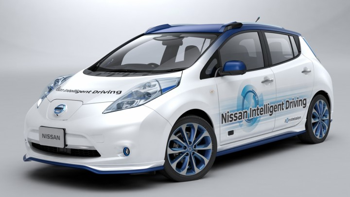 """Nissan chose Leaf for tests of Piloted Drive 1.0, because this prototype represents both visions - """"Zero Emission"""" and """"Zero Fatality"""". Tests of this impressive technological creation will be carried out on highways and city streets. Image credit: nissannews.com"""