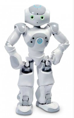 Professor Brian Scassellati is using commercially available robots, such as the NAO humanoid robot, to test software programs designed to help youngsters with social