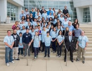 Seventh-grade students from Sawyer Elementary School in Gage Park on the south side of Chicago toured Argonne National Laboratory and conducted hands-on experiments as part of the 11th annual Hispanic/Latino Educational Outreach Day. (Click on image to enlarge.)