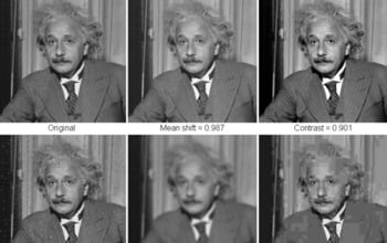 In the following image, all distorted images have roughly the same mean squared error values with respect to the original image, but very different quality. SSIM gives a much better indication of image quality. Image credit: Zhou Wang, Alan C. Bovik, Hamid R. Sheikh and Eero P. Simoncelli