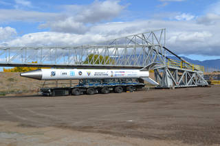 A swarm of Edison Demonstration of Smallsat Networks (EDSN) mission satellites are to be deployed in space via a Super Strypi booster lifting off from the U.S. Navy's Pacific Missile Range Facility on Kauai, Hawaii. Credits: Sandia National Laboratories