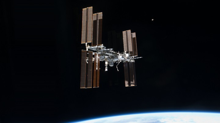 The International Space Station, as seen from space shuttle Atlantis in 2011. Image credit: NASA