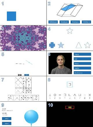 Screenshots of 10 of the tests used to measure cognitive function in space. Credits: University of Pennsylvania