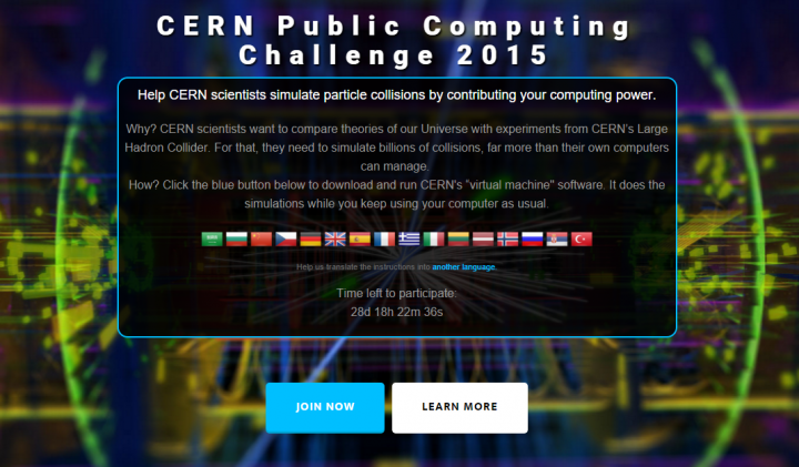 CERN Public Computing Challenge 2015 will run for a month, and aim to involve as much of the general public throughout the world as possible.