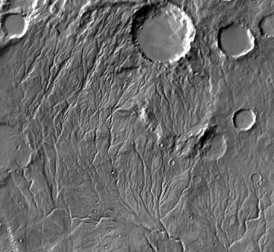 Using NASA data and information on drainage tunnels and sediment flux from the Texas Department of Transportation, researchers calculated that carving ancient Martian valleys might have required less water than previously thought. Image credit: NASA/JPL-Caltech/Arizona State University