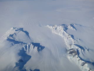 A new NASA study says that Antarctica is overall accumulating ice. Still, areas of the continent, like the Antarctic Peninsula photographed above, have increased their mass loss in the last decades. Credits: NASA's Operation IceBridge