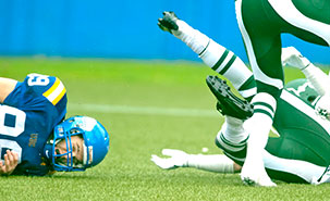 Christian Duval has identified a new approach for detecting concussion in football players. Image credit: Huskies.