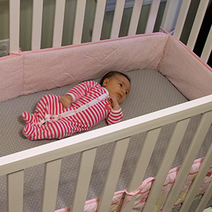 A new study shows that the number of infant deaths and injuries attributed to crib bumpers has spiked significantly in recent years. The findings stem from an analysis by a retired professor of pediatrics at Washington University School of Medicine in St. Louis and two former researchers with the U.S. Consumer Product Safety Commission. The study authors recommend that sale of the items be banned. Image credit: Sara Dickherber