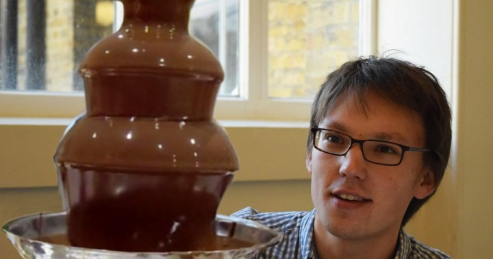 Scientists explained inwards curvature of chocolate fountain using water bells – it is all due to surface tension. Image courtesy of ucl.ac.uk, Adam Townsend & the London Mathematical Society