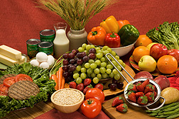 A diet including low-fat dairy, lean meats, seafood, whole grains, and vegetables and fruits is recommended.