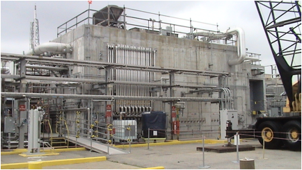 he Modular Caustic Side Solvent Extraction (CSSX) Unit nearing completion at the Savannah River Site.