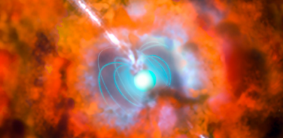 An artist's impression of a hypernova, an explosive death of a star roughly ten times more energetic than a normal supernova. Image credit: ESO