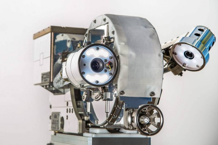 VIPIR, short for Visual Inspection Poseable Invertebrate Robot, is a robotic, articulating borescope that would help mission operators who need robotic eyes to troubleshoot anomalies, investigate micrometeoroid strikes, and carry out teleoperated satellite-repair jobs. NASA successfully demonstrated VIPIR's capabilities earlier this year. Credits: NASA/C. Gunn