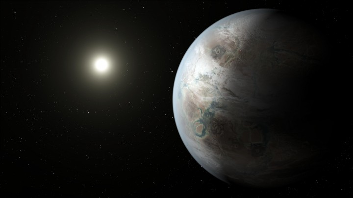 The glittering city lights of Coruscant, the Star Wars core world, might have evolved on an older, near Earth-size planet like Kepler-452b. This real-life Earth cousin exists in a system 1.5 billion years older than Earth, giving any theoretical life plenty of time to develop an advanced technological civilization. Credits: NASA/Ames/JPL-Caltech