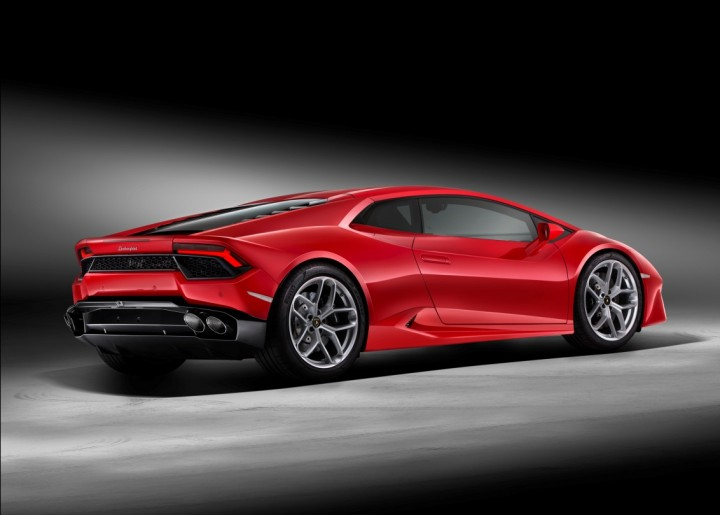 The new Lamborghini Huracán LP 580-2 is only rear-wheel drive and set up for oversteering fun. Image courtesy of media.lamborghini.com.
