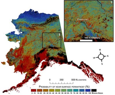 Current probability of near-surface permafrost in Alaska