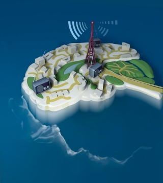Stanford researchers discovered that adjusting a circuit in the thalamus dramatically alters the forebrain activity and alertness levels in the brains of rats. Image credit: Lili Guo