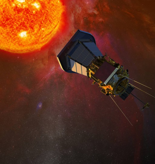 An artist's rendering of Solar Probe Plus. The Solar Probe Plus mission is slated to launch no later than 2018, and will visit and study the sun closer than ever before. Credits: NASA