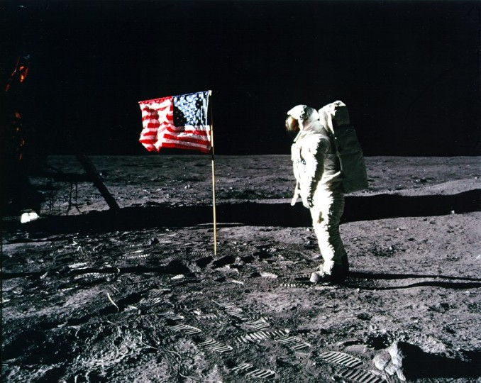 Could it be that the US moon landings were a hoax? According to Dr David Robert Grimes, the cover-up would have been exposed, advertently or not, in 3 years and 8 months – and even that is a conservative estimate. Image credit: NASA via history.nasa.gov, CC BY 2.0.