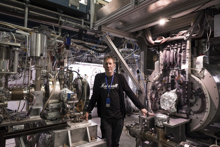 Spokesperson Jeffrey Hangst at the ALPHA experiment, one of the experiments at CERN's Antiproton Decelerator.(Image: Maximilien Brice/CERN)