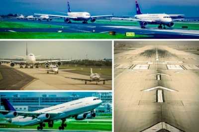 Engineers at MIT have developed a queuing model that may help air traffic controllers direct departures more efficiently, minimizing runway congestion. Image credit: MIT News